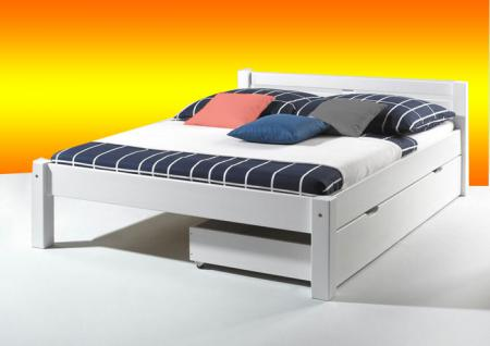 betten 180x200 weiss mit bettkasten online kaufen yatego. Black Bedroom Furniture Sets. Home Design Ideas