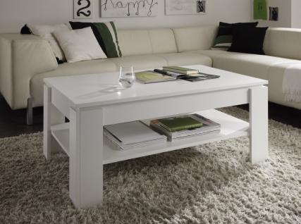 Couchtisch Wohnzimmertisch - DAV - 110 x 65 cm Weiss
