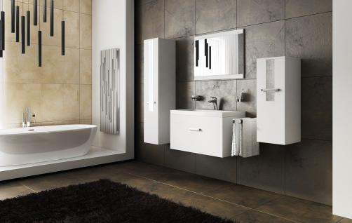 Badmöbel Set 5-Teilig Weiss Badezimmerset - SIT - inkl.Waschtisch