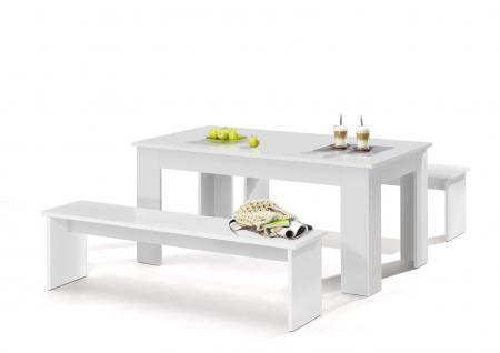 sitzbank wei 140 g nstig online kaufen bei yatego. Black Bedroom Furniture Sets. Home Design Ideas