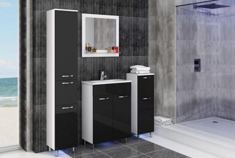badm bel set schwarz hochglanz bestellen bei yatego. Black Bedroom Furniture Sets. Home Design Ideas