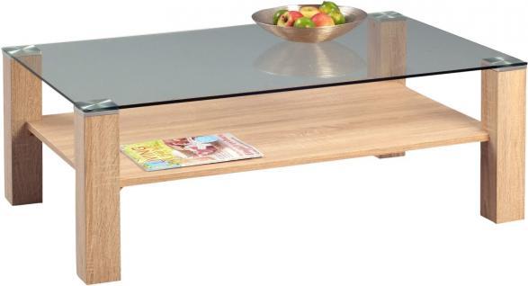 Couchtisch eiche glas online bestellen bei yatego for Couchtisch 110x70