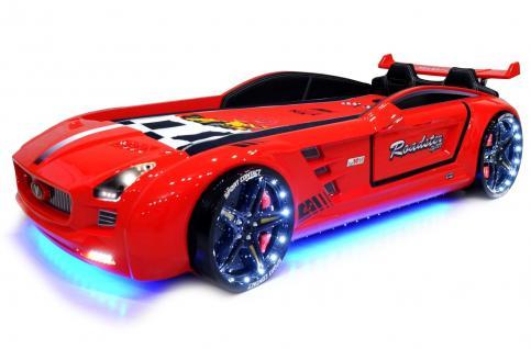 Autobett Kinderbett - Knight Rider - Rot inkl.Beleuchtung