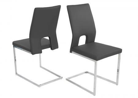 kunstleder stuhl grau online bestellen bei yatego. Black Bedroom Furniture Sets. Home Design Ideas