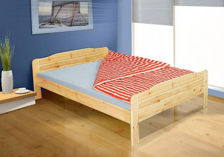 Tagesbett-Bett - WiLMA- Kiefer / Natur Lackiert inkl. Rollrost 180x200 cm