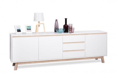 """Sideboard """" TODAY"""" Weiß matt mit Sockel in Echtholz - Design 00x66, 5x40 cm"""