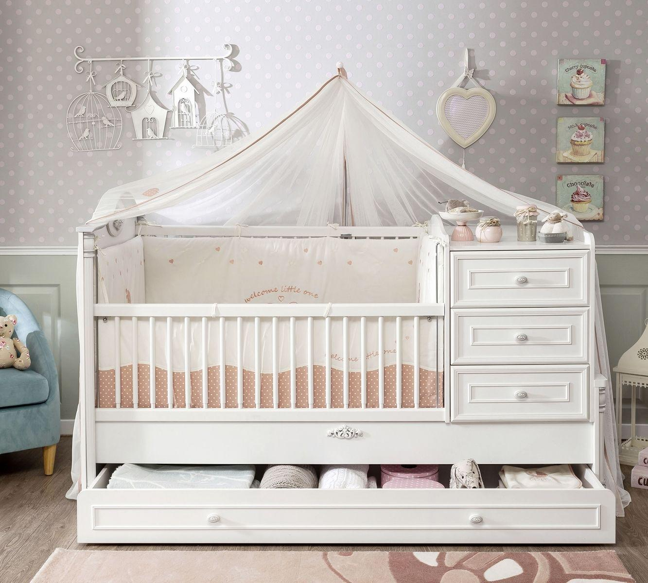 babybett gitterbett mitwachsende bett dreams in weiss seidenmatt kaufen bei sylwia. Black Bedroom Furniture Sets. Home Design Ideas