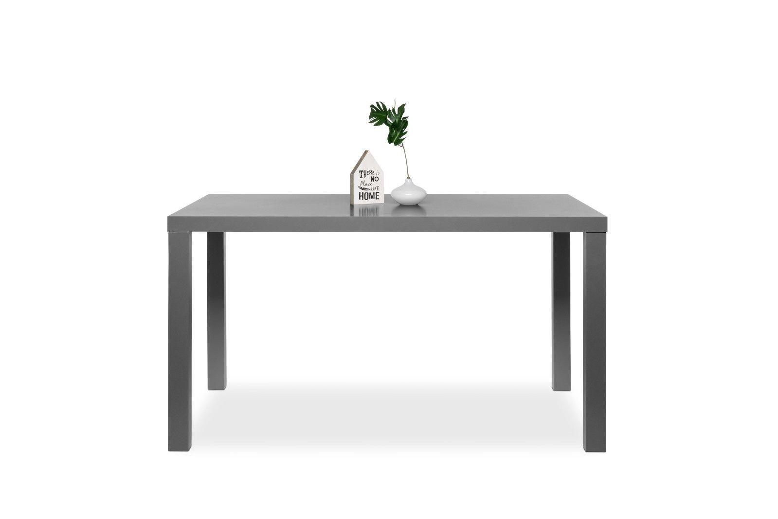 Tisch schreibtisch b rotisch prime dekor hochglanz grau for Schreibtisch grau hochglanz
