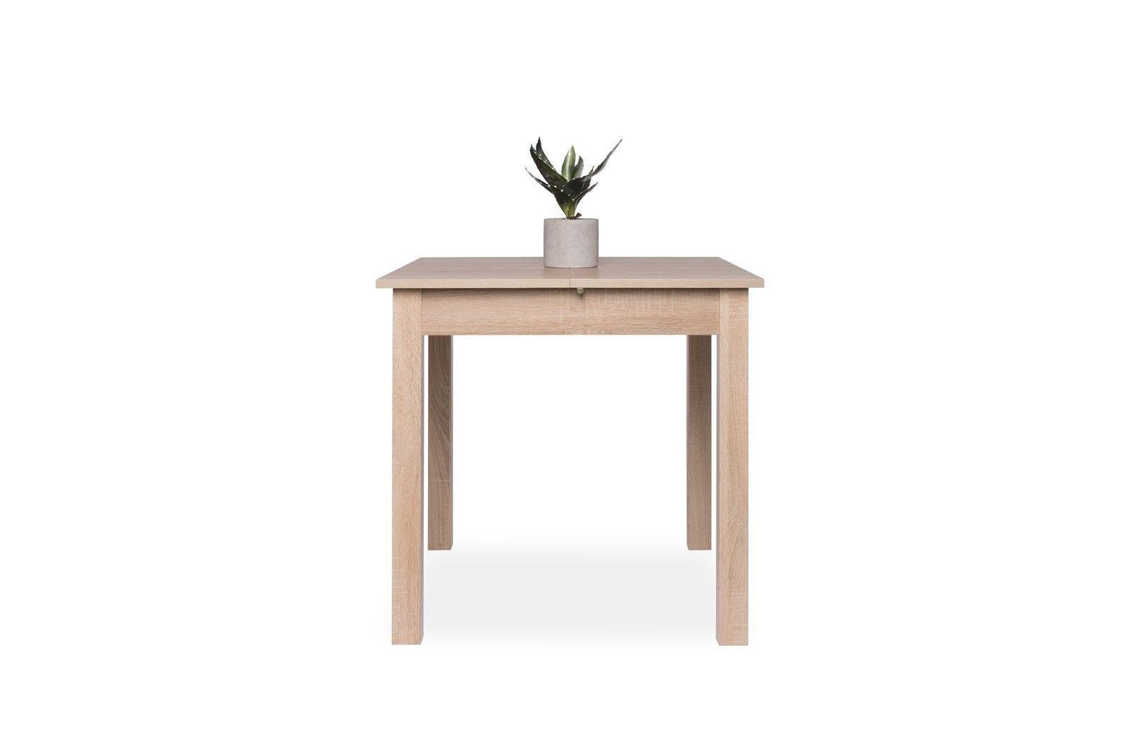 esstisch auszugstisch burg mit auszugsplatte 80 120x80x77 cm sonoma eiche kaufen bei sylwia. Black Bedroom Furniture Sets. Home Design Ideas