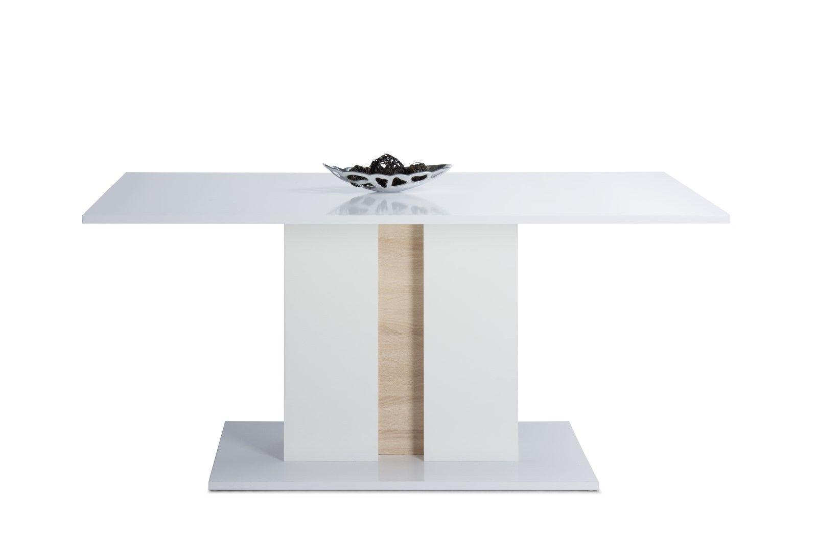 tisch esstisch shine weiss hochglanz s ulenfu 160 x 90cm kaufen bei sylwia lesniewska. Black Bedroom Furniture Sets. Home Design Ideas