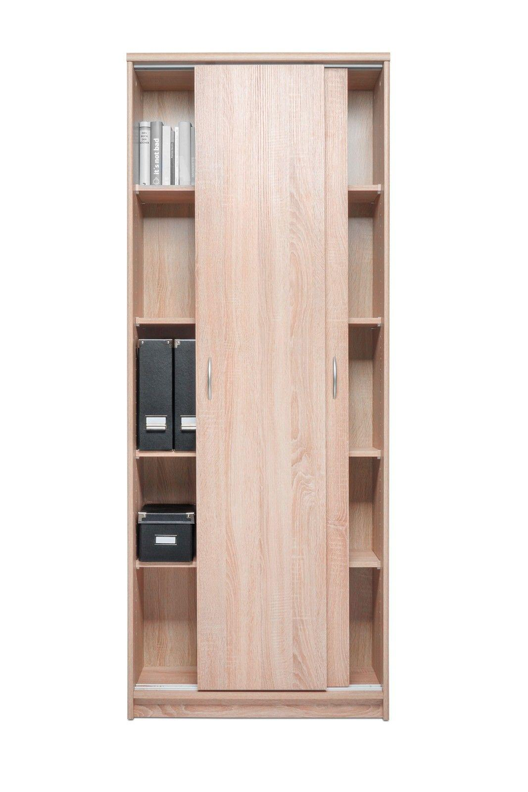 schrank schiebet renschrank bonn 14 74x188 cm dekor sonoma eiche kaufen bei sylwia. Black Bedroom Furniture Sets. Home Design Ideas