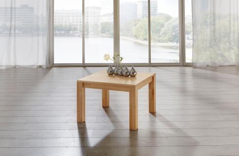 Couchtisch Tisch MALTE Buche vollmassiv / Echtholz 100 x 100 cm