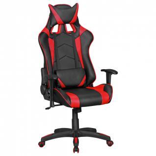 Drehstuhl Bürostuhl Chefsessel GAMING 1- Schwarz / Rot