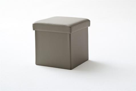 Sitzwürfel mit Deckel Hocker - SELL - Kunstleder Muddy 40, 5x40, 5x40cm