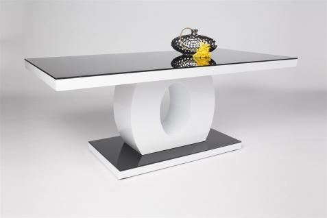 Couchtisch Tisch - EVA - 120x60 cm HGL Weiss / ESG Glas