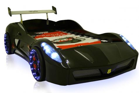 Autobett Kinderbett - Formel GT / Standart -Schwarz inkl.Beleuchtung