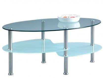 Couchtisch Beistelltisch - Nelli - 90x55 cm Glas