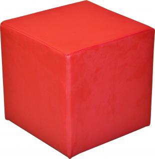 Sitzwürfel Sitzhocker Schminkhocker Hocker Sessel Kunstleder Rot 45x45 cm
