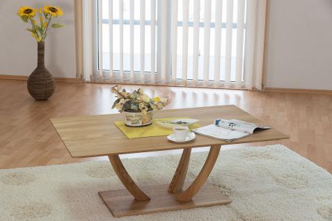 Couchtisch Tisch STAR Wildeiche vollmassiv / Echtholz 110 x 70 cm