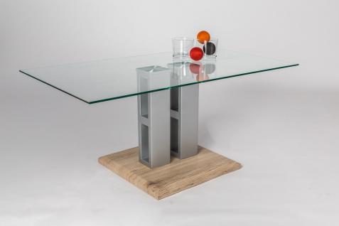 Couchtisch glas mit eiche g nstig kaufen bei yatego for Couchtisch 90x50