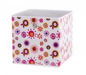 Faltbox Box Flowers - Delta -32 x 32 cm / 3er Set - Rot