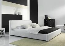 Polsterbett Bett Doppelbett Tagesbett - COSIMO - 140x200 cm Weiss