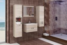 Badmöbel Set 4-Tlg Sonoma / Sonoma matt -AILIN 1- ohne Waschtisch