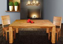"""Esstisch Tisch """" BEA"""" 180x90 cm Eiche massiv geölt / Fuß 115 x115 mm"""