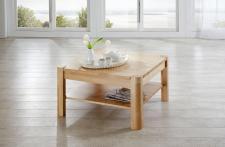 Couchtisch Tisch THILO Eiche vollmassiv / Echtholz 100 x 100 cm