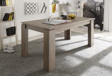 Esstisch Tisch Auszugstisch -DAV -160-200 x 90 cm Eiche Sägerau Dunkel