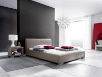 Polsterbett Bett Doppelbett Tagesbett - COSIMO - 140x200 cm Muddy