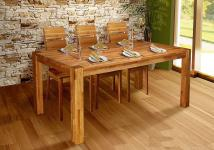 Esstisch SANTO Tisch 160x90 Eiche massiv geölt / Fuß 90x90 mm