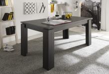 Esstisch Tisch Auszugstisch -DAV -160-200 x 90 cm Esche Grau