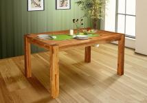 Esstisch SANTO Tisch 140x90 Eiche massiv geölt / Fuß 90x90 mm
