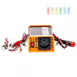 Spannungswandler / Inverter ALL Ride Zigarettenanzünder- und Batterie-Anschluss, Schuko-Steckdose, USB-Buchse, 24V/DC auf 230V/AC, 300W
