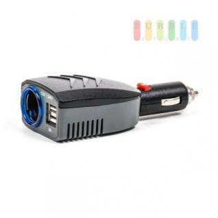 Steckdose/USB-Adapter ALL Ride 1-fach, Stecksystem verstellbar, 2 x USB, LED-Sicherung, Power-Chip, 12/24V 10A