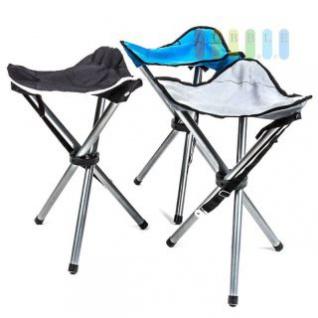 Campinghocker faltbar mit einstellbarem Griff, 30 cm Stellmaß, 0, 5 kg, lieferbar in den Farben Schwarz, Blau oder Grau