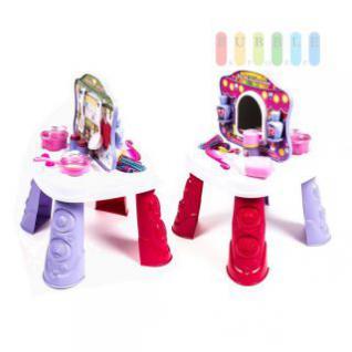 Spieltisch für Mädchen zum Schminken und Kochen mit 18-teiligem Zubehör-Set