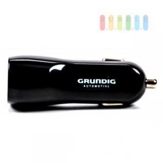 USB-Adapter/-Ladegerät Grundig für Zigarettenanzünder mit 2 USB-Buchsen 12/24V, 5V/3, 1A