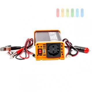 Spannungswandler / Inverter ALL Ride Zigarettenanzünder- und Batterie-Anschluss, Schuko-Steckdose, USB-Buchse, 12V/DC auf 230V/AC, 300W