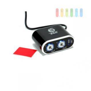 Steckdose/USB-Adapter ALL Ride 2-fach, selbstklebend, einzeln geschaltet, beleuchtet, 1 x USB, 12/24V, 5A