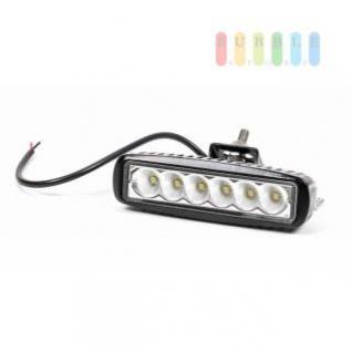 Arbeitsscheinwerfer von SwedStuff mit 6 SMD-LEDs, Aluminium-Gehäuse, 850 Lumen, IP 67, 10-32V, 18W, ca. 16 x 5, 1 x 6, 9 cm