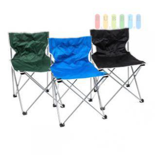 Campingstuhl klappbar mit Transporttasche, 44 cm Stellmaß, 1, 4 kg, lieferbar in den Farben Schwarz, Blau oder Grün