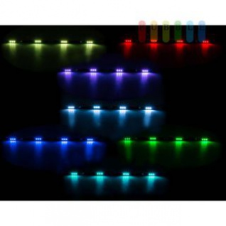LED-Innenleuchte ALL Ride, flache Bauweise, 4 x 3 SMD-LED, 7 Farben, geschaltet, Länge 70 cm, 10- 30V