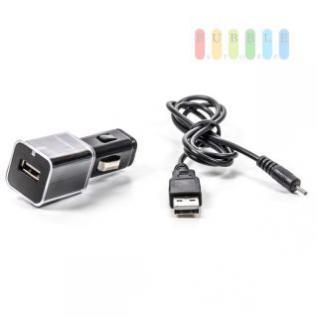 USB-Adapter/Ladegerät Grundig mit USB-Buchse, Nokia-Kabel, 12/24V, 5V/1A