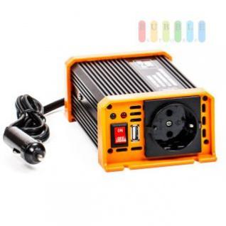 Spannungswandler / Inverter ALL Ride Zigarettenanzünder-Stecker, Schuko-Steckdose, USB-Buchse, 12V/DC auf 230V/AC, 150W