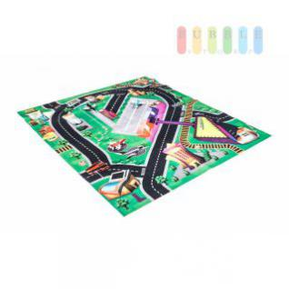 Spielteppich mit Flughafen und Autostraßen, 3 Flugzeuge inklusive, Größe ca. 80 x 70 cm