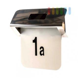 Solar-Hausnummer mit Ziffern und Buchstaben, 2 LEDs, Dämmerungsautomatik, Brenndauer 6-8 Stunden