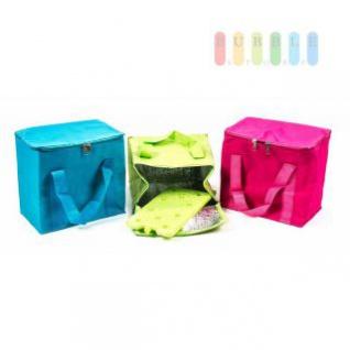 Kühltasche mit Kühlakku, Griffbänder, Volumen 7 Liter, faltbar, handlich, lieferbar in den Farben Pink, Blau oder Grün