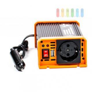 Spannungswandler / Inverter ALL Ride Zigarettenanzünder-Stecker, Schuko-Steckdose, USB-Buchse, 24V/DC auf 230V/AC, 150W